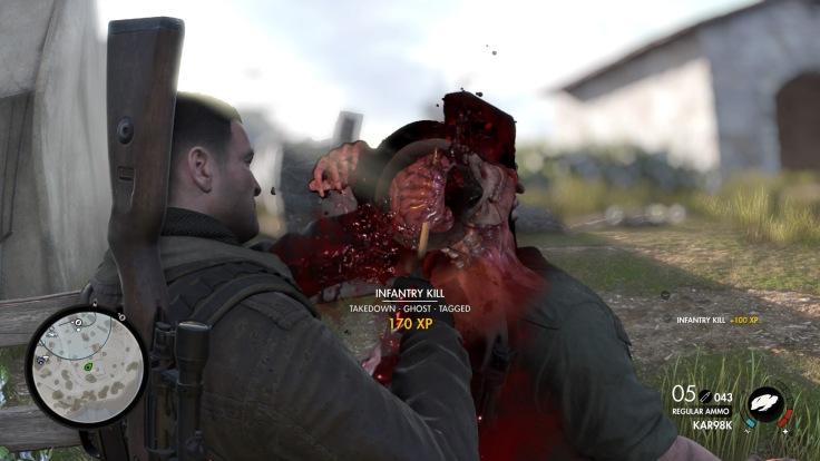 Sniper Elite 4 Melee Kill Cam Screenshot