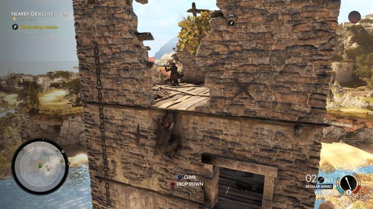 Sniper elite 4 Climbing