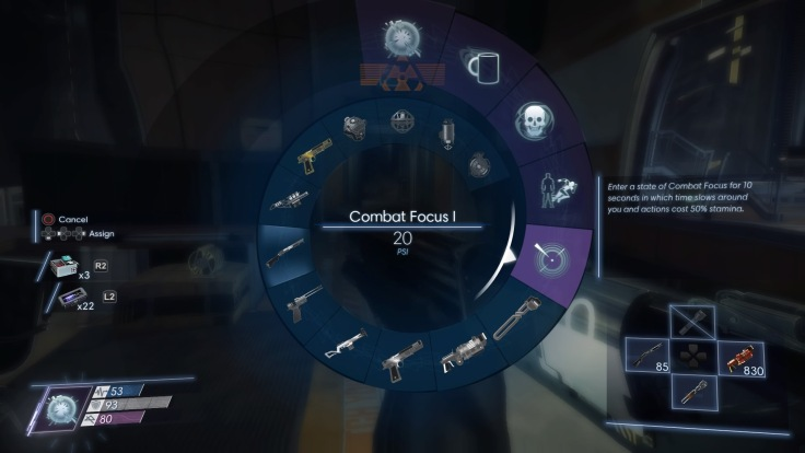 Prey Quick menu