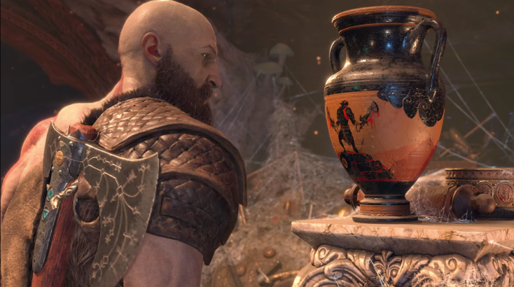 God of War 4 Kratos Vase