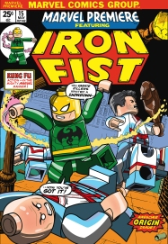 Lego Marvel 2 Iconic Cover Marvel Premiere Iron Fist 15