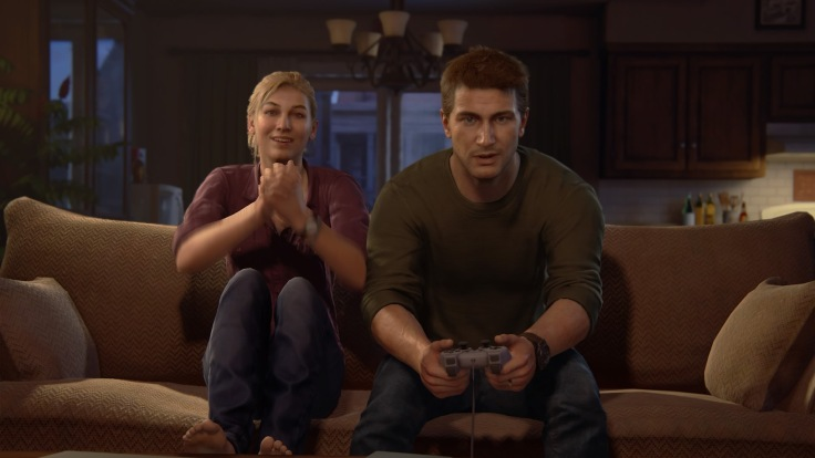 Uncharted 4: A Thief's End™ Drake and Elena play Crash